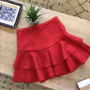 J. Crew wool tiered mini skirt